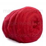 мериносовый сливер 18-19 мкм Новая Зелландия ярко красный