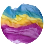 шарфы шелковые окрашенные однотонные и с переходами мультиколор 002