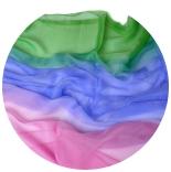 шарфы шелковые окрашенные однотонные и с переходами мультиколор 004