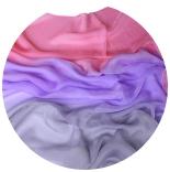 шарфы шелковые окрашенные однотонные и с переходами мультиколор 005
