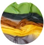 шарфы шелковые окрашенные однотонные и с переходами мультиколор 006