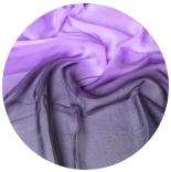 шарфы шелковые окрашенные однотонные и с переходами мультиколор 007