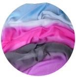 шарфы шелковые окрашенные однотонные и с переходами мультиколор 008