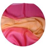 шарфы шелковые окрашенные однотонные и с переходами мультиколор 009