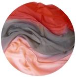 шарфы шелковые окрашенные однотонные и с переходами мультиколор 010
