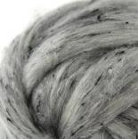 Твид - шерсть+ вискозное волокно серая дорожка
