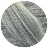 меринос натуральный (merino) + бленды меринос мелированный серый 22мкм