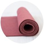 фетр 2мм 20см*30см натуральная шерсть красная лагуна