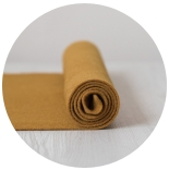фетр 2мм 20см*30см натуральная шерсть шафран
