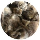 кудри и флис натуральные не окрашенные шетланд коричневый фабрично промытый