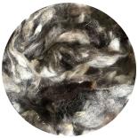 кудри и флис натуральные не окрашенные шетланд серо-коричневый микс фабрично промытый