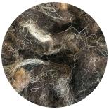 кудри и флис натуральные не окрашенные шетланд темный микс фабрично промытый