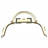 Рамочные замки, цепочки для сумок рамочный замок 20,5*10см с 2-мя ручками золото