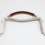 Рамочные замки, цепочки для сумок рамочный замок 20,5*9см с ручкой никель