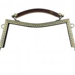 Рамочные замки, цепочки для сумок рамочный замок 20,5*9см с ручкой антик