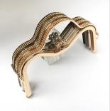 Рамочные замки, цепочки для сумок рамочный замок 23см ручка со стразами серебро