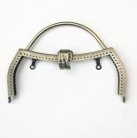 Рамочные замки, цепочки для сумок рамочный замок 18см с ручкой антик