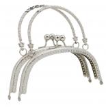 Рамочные замки, цепочки для сумок рамочный замок 16,5см с ручкой никель