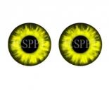 глазки для игрушек стеклянные реалистичные 6мм цвет 2