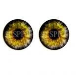 глазки для игрушек стеклянные реалистичные 6мм цвет 4