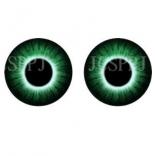 глазки для игрушек стеклянные реалистичные 6мм цвет 7