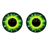 глазки для игрушек стеклянные реалистичные 6мм цвет 9