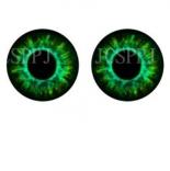 глазки для игрушек стеклянные реалистичные 6мм цвет 10