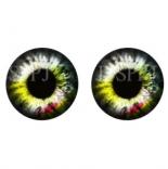 глазки для игрушек стеклянные реалистичные 6мм цвет 12