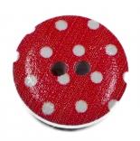 Аа пуговицы декоративныеe красная в горошек