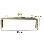 Рамочные замки, цепочки для сумок фермуар 18см антик