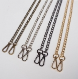 Рамочные замки, цепочки для сумок цепочка для фермуара 120см темный никель
