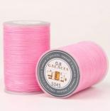 Плоская вощеная нить Galaces 0,8мм розовая s045