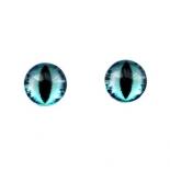 глазки для игрушек стеклянные реалистичные 6мм цвет 8