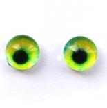 глазки для игрушек стеклянные реалистичные 6мм цвет 16