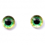глазки для игрушек стеклянные реалистичные 6мм цвет 18