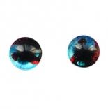 глазки для игрушек стеклянные реалистичные 6мм цвет 15