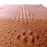 Кожа кожа искусственная с тиснением крокодил 35*50см светло коричневый