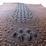 Кожа кожа искусственная с тиснением крокодил 35*50см коричневый