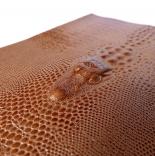 Кожа кожа искусственная с тиснением кокодил 20*25см светло коричневый