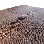 Кожа кожа искусственная с тиснением кокодил 20*25см бежевый