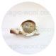 круглая основа для броши булавка + зажим 25мм