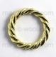 кольцо плетеное 30мм золото
