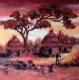 руководство по валянию картины из шерсти Африканский пейзаж
