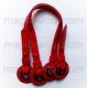 красные с люверсами 40-55см pu leather