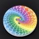 многоцветная круглая