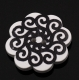 черно белый ажур