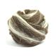 меринос натурально коричневый с шелком tussah