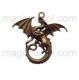 дракон 43мм*46мм*6мм античная бронза
