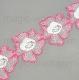 розовые цветы на хлопке 5,5см