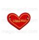 сердечко красное